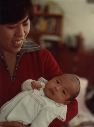 me and mom, april 1983